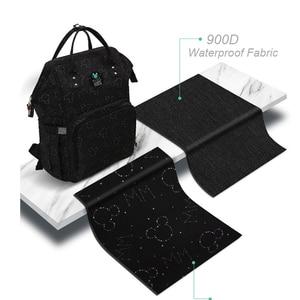 Image 2 - Disney Bolsa de pañales impermeable con calefacción USB, mochila de pañales para mamá pequeña, bolsa de viaje de caricatura Micky, bolsa de pañales de Minnie de gran capacidad