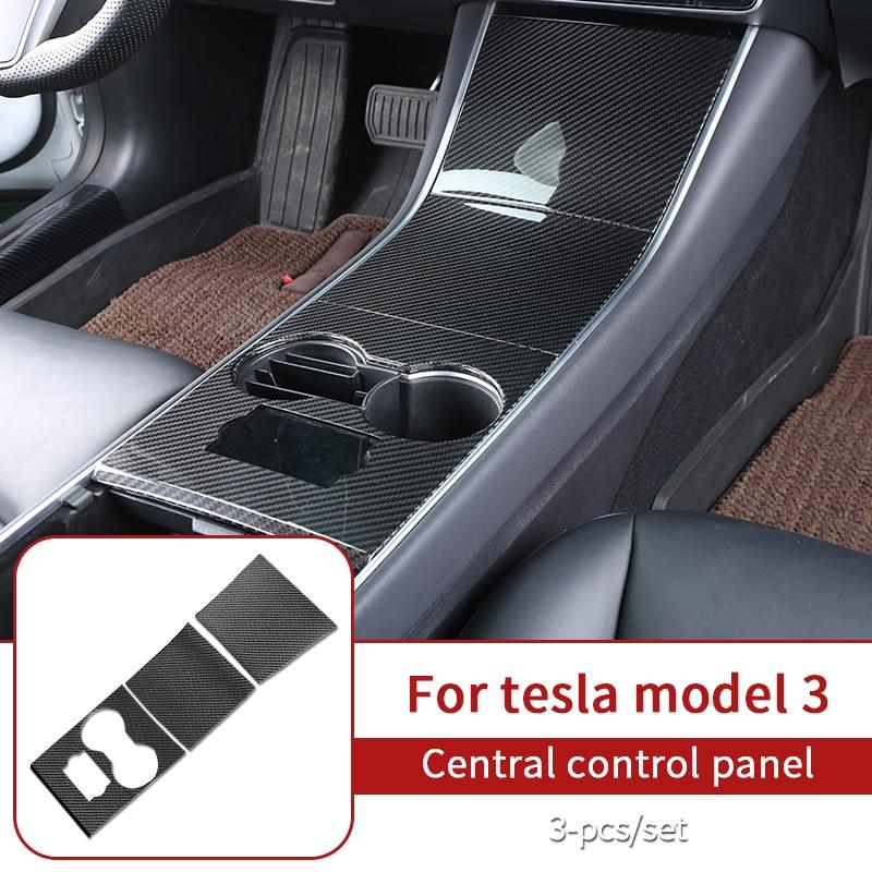 Interior glossy carbon fiber for Tesla model 3 accessories/car accessories model 3 tesla three tesla model 3 carbon/accessoires