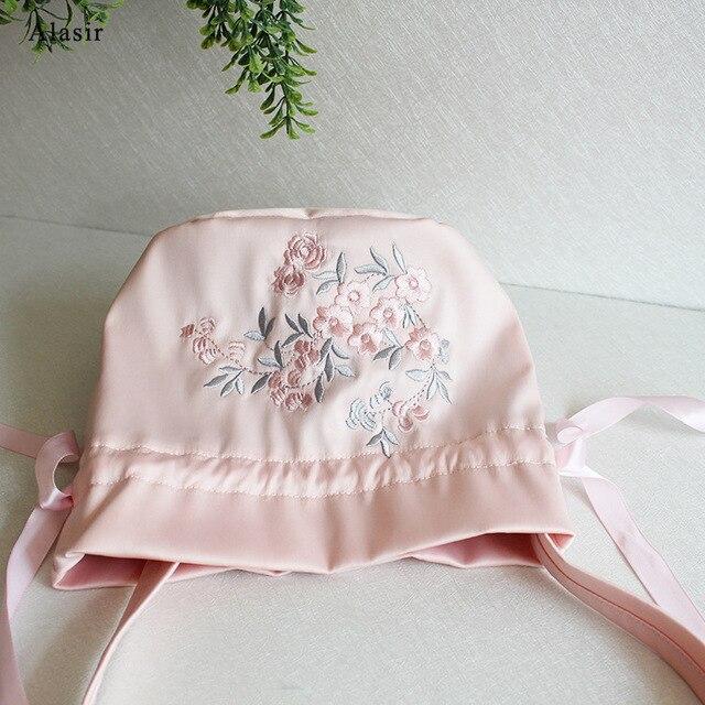 Alasir Satin Embroidered Hanfu Bag  Vintage Drawstring Bags Ancient Messenger Female Shoulder Bag Artsy Women Shoulder Bag