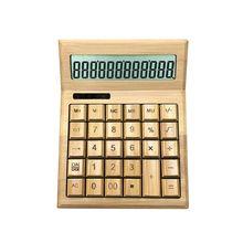 Desktop Calculator Bamboo Display Functional Solar-Power 12 with 12-Digit Large L29k