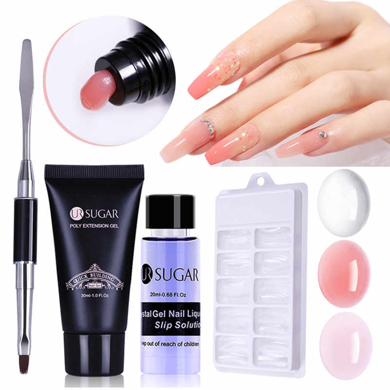 Ur Suiker Nail Art Poly Uv Gel Franse Nail Constraction Builder Jelly Poly Acryl Gel Anti Oplossingen Clearnser Plus Remover