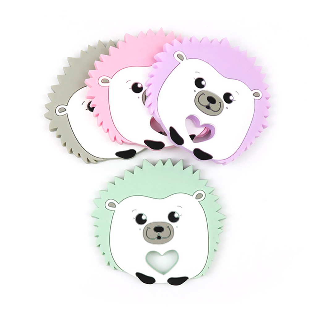 Cartoon Hedgehog Shape Baby Teether Relieve Long Tooth Pain Soothe Molar Toys