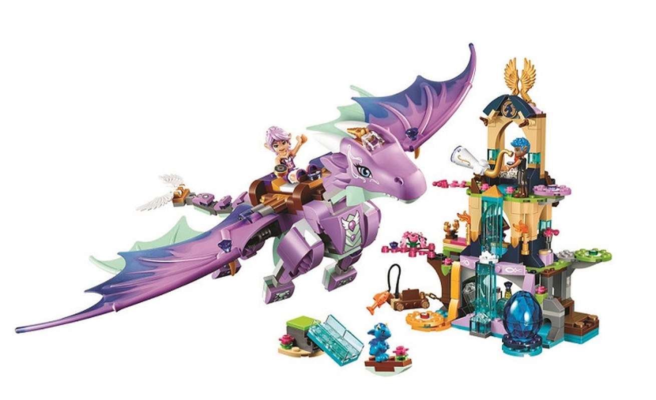 Compatible with Lepining Elves 41178 BELA 10549 Fairy Elves The Dragon Sanctuary Building Blocks Sets Gift Toys image