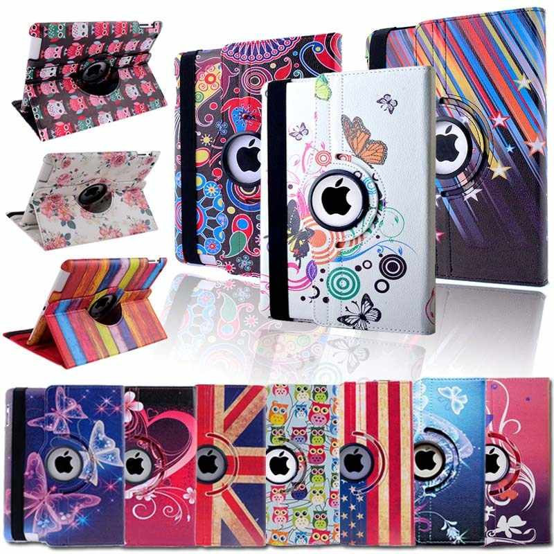 Kk & Ll Voor Voor Ipad 2/3/4-Multicolor Smart Tablet Cover Roterende 360 ° Met auto Wake Up Sleep Flip Leather Stand Case