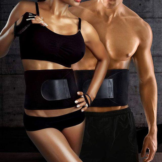 S/M/L Men Women Tummy Waist Traine Sweating Corset Fat Burner  Belt Slimming Fitness Corset Belt hot. 5