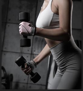 Image 3 - Youpin XQIAO 1 זוג חצי אצבע כושר קל משקל כפפות כושר לנשימה יבש החלקה ספורט תרגיל אימון משקולות