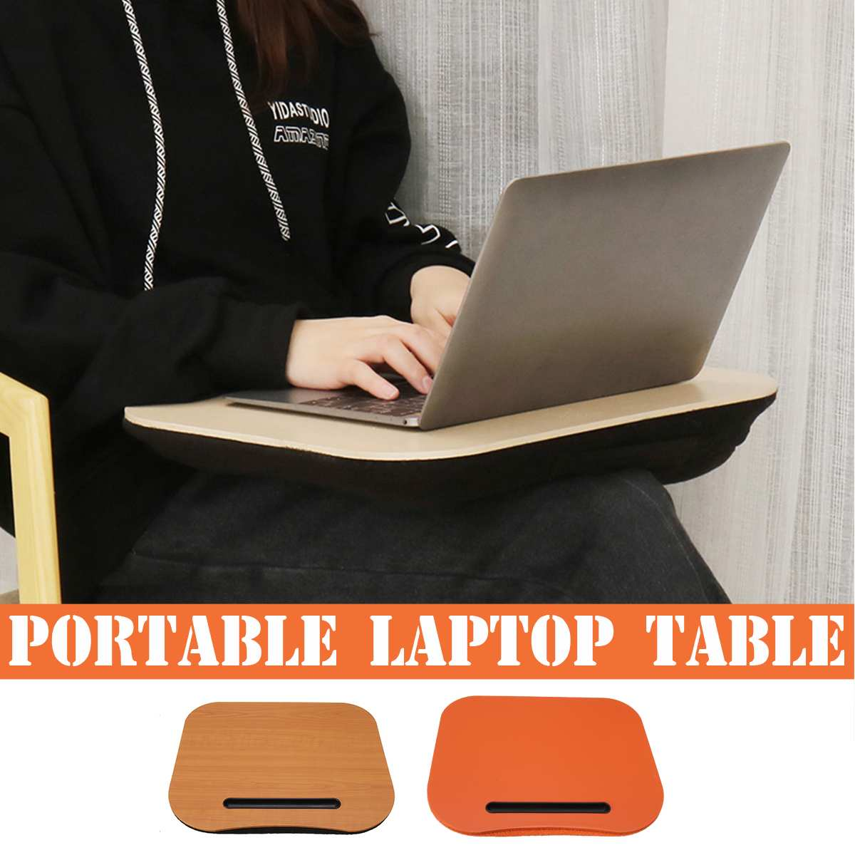 3Color Desk Bed Cushion Knee Lap Handy Computer Reading Writing Table Tablet Tray Cup Holder Laptop Stand Pillow Office Desk Set