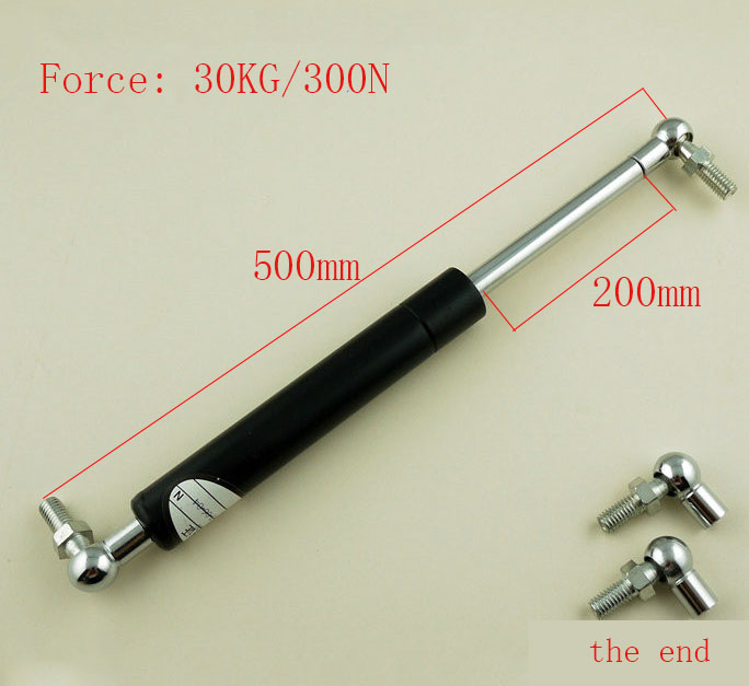 free shipping   500mm central distance, 200mm stroke, Ball End Lift Support Auto Gas Spring, Shock absorber