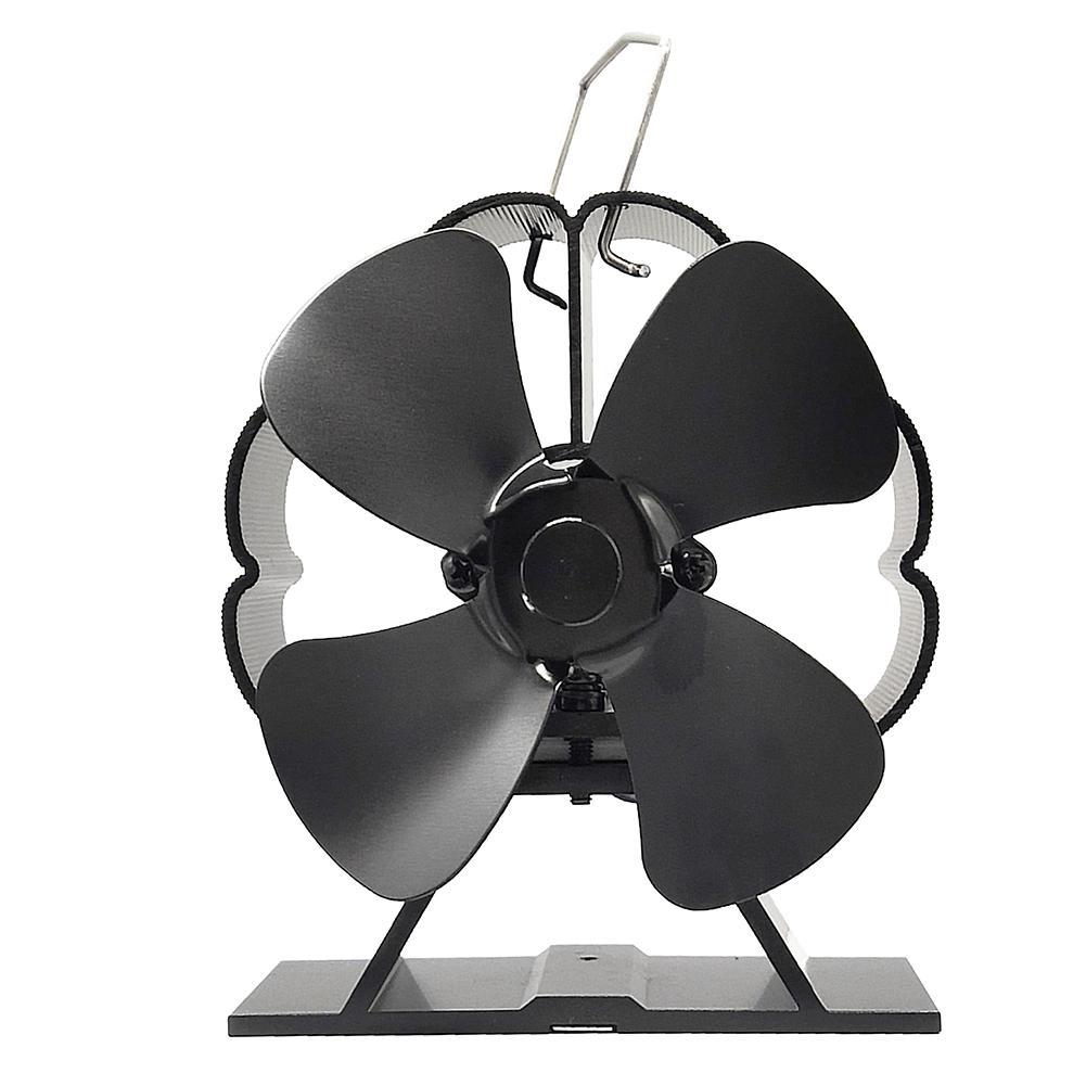 4 Blade Heat Power Stove Fan Komin Silent Fireplace Fan Log Wood Burner Eco Friendly Heating Fan Efficient Heat Distribution