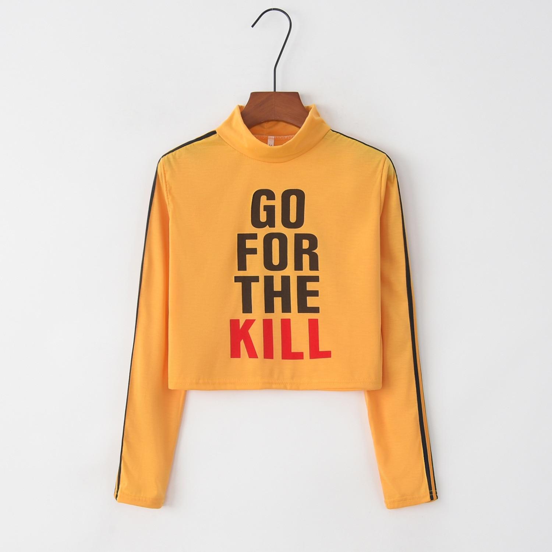 Go For The Kill 2020 New Design Hot Sale Hoodies Sweatshirts Women Casual Kawaii Harajuku Sweat Girls European Tops Korean
