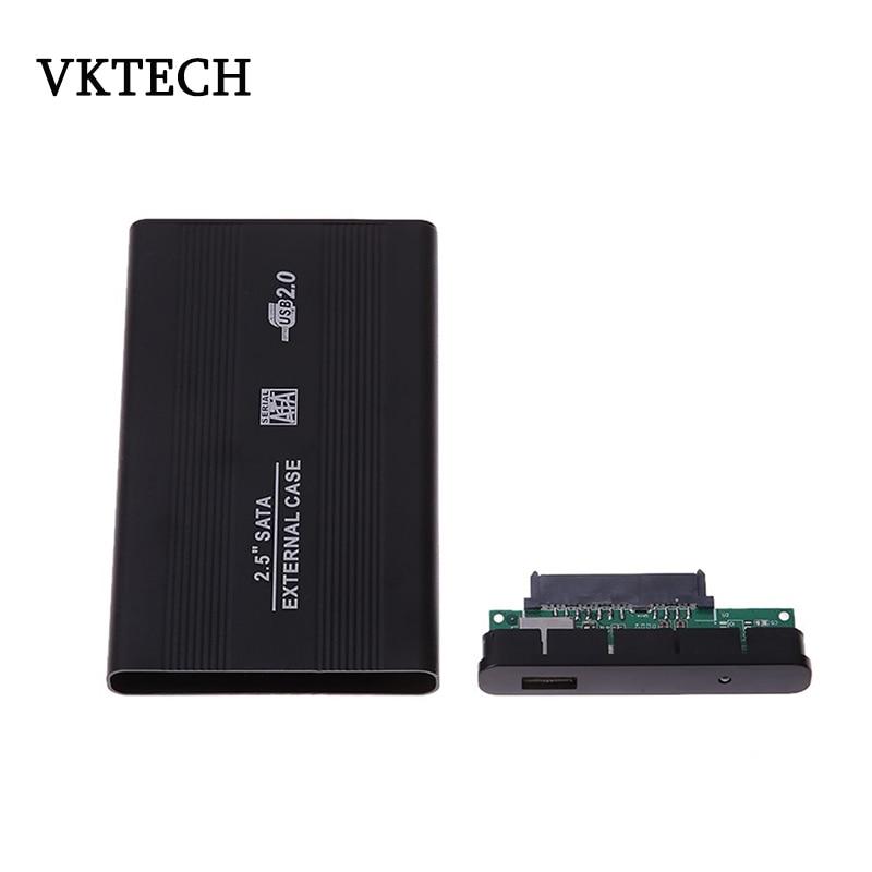 External Aluminum Alloy Case Hard Drive HDD Enclosure Mobile Hard Disk Box USB2.0 Portable Laptop SATA 2.5