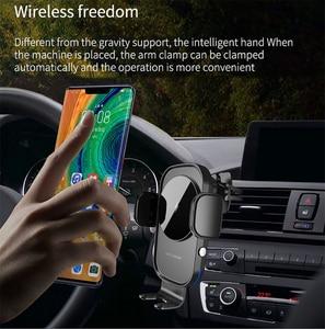 Image 2 - ワイヤレス車の充電器 15 ワットチー充電自動クランプセンサー空気ベント電話ホルダーiphone 11 xs xr × 8 サムスンS20 S10 S9