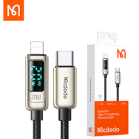 【Digital display】Mcdodo USB-C Lightning a Cable 20W PD Cable cargador rápido para iPhone 12 11 pro max x xr 8 7plus 6s ipad ipod Ca