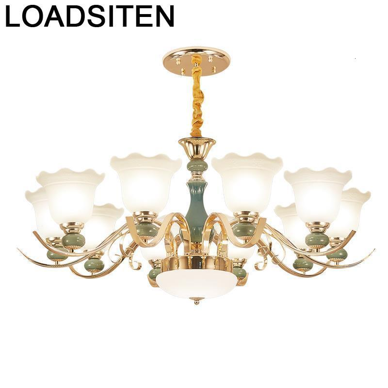 Chandelier European Led Kitchen Luminaire Suspendu Luminaria Deco Maison Lampara De Techo Colgante Moderna Hanging Lamp