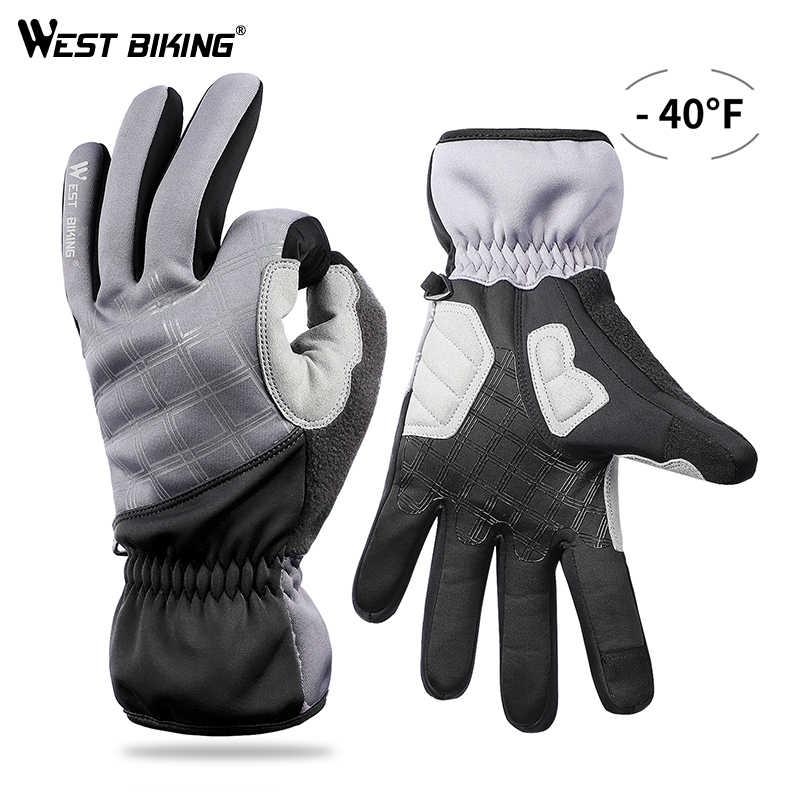 Upspirit per sport invernali impermeabili termici e antivento unisex guanti da ciclismo e da sci