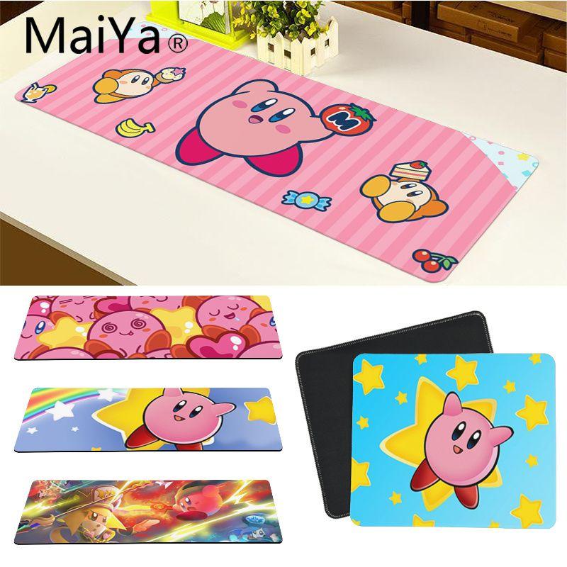 Maiya Top Quality Cute Kirby Laptop Gaming Mice Mousepad Free Shipping Large Mouse Pad Keyboards Mat