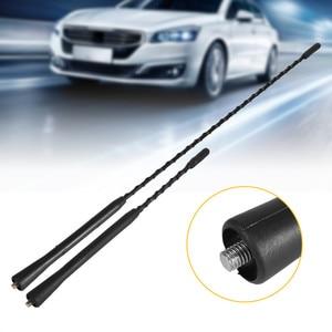 Image 1 - ユニバーサル車の自動車屋根マストステレオラジオ fm am 増幅ブースターアンテナ自動車アクセサリー 0.2 12 v 車のアンテナ新しい