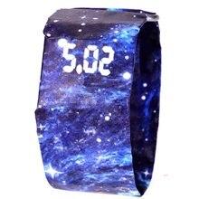 Водонепроницаемый Tyvek бумага ремешок светодиодный цифровые часы Спорт Relogio Feminino пары часы студенческий светильник цифровой дисплей бумага подарок