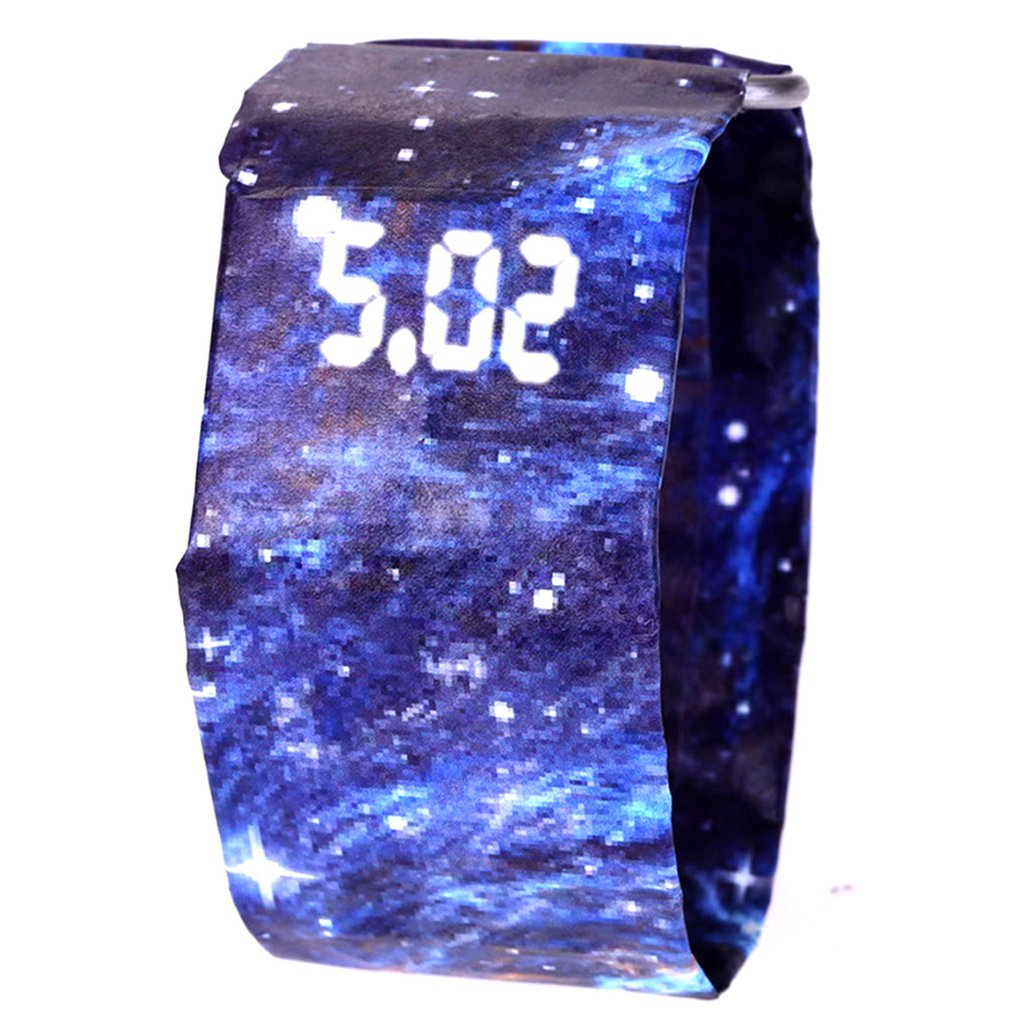 Waterproof Tyvek Paper Strap LED Digital Watch Sport Relogio Feminino Couples Watch Student Light Digital Display Paper Gift