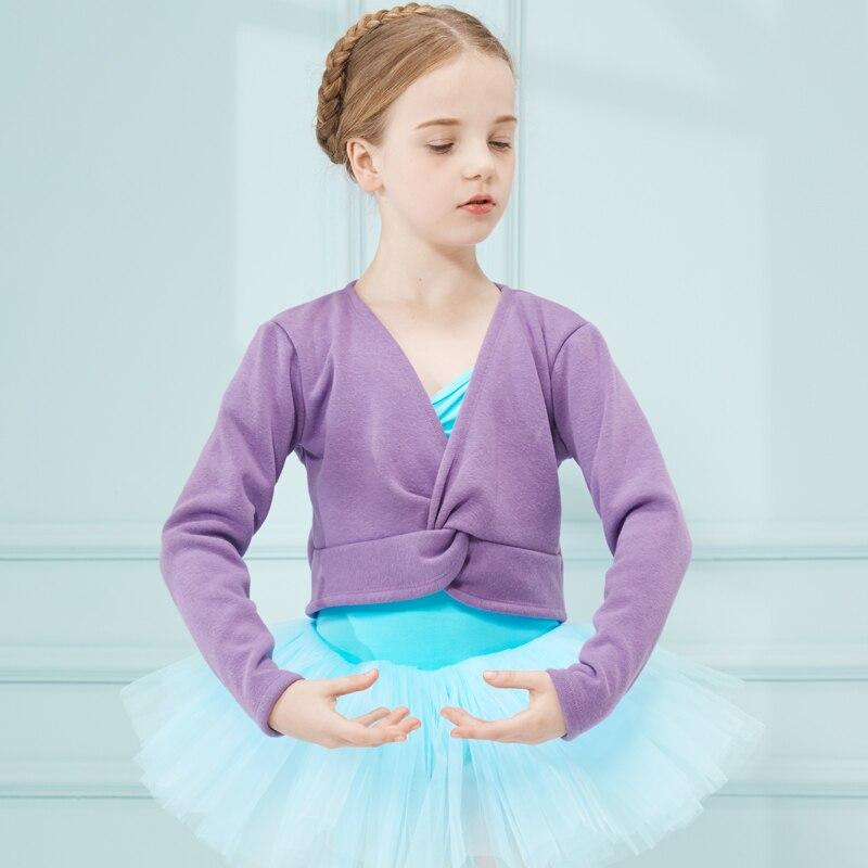 Winter Cardigan Ballet Cardigan Dance Cardigan For Girls Kids Children High Quality Ballerina Long Sleeves Tulle Dance