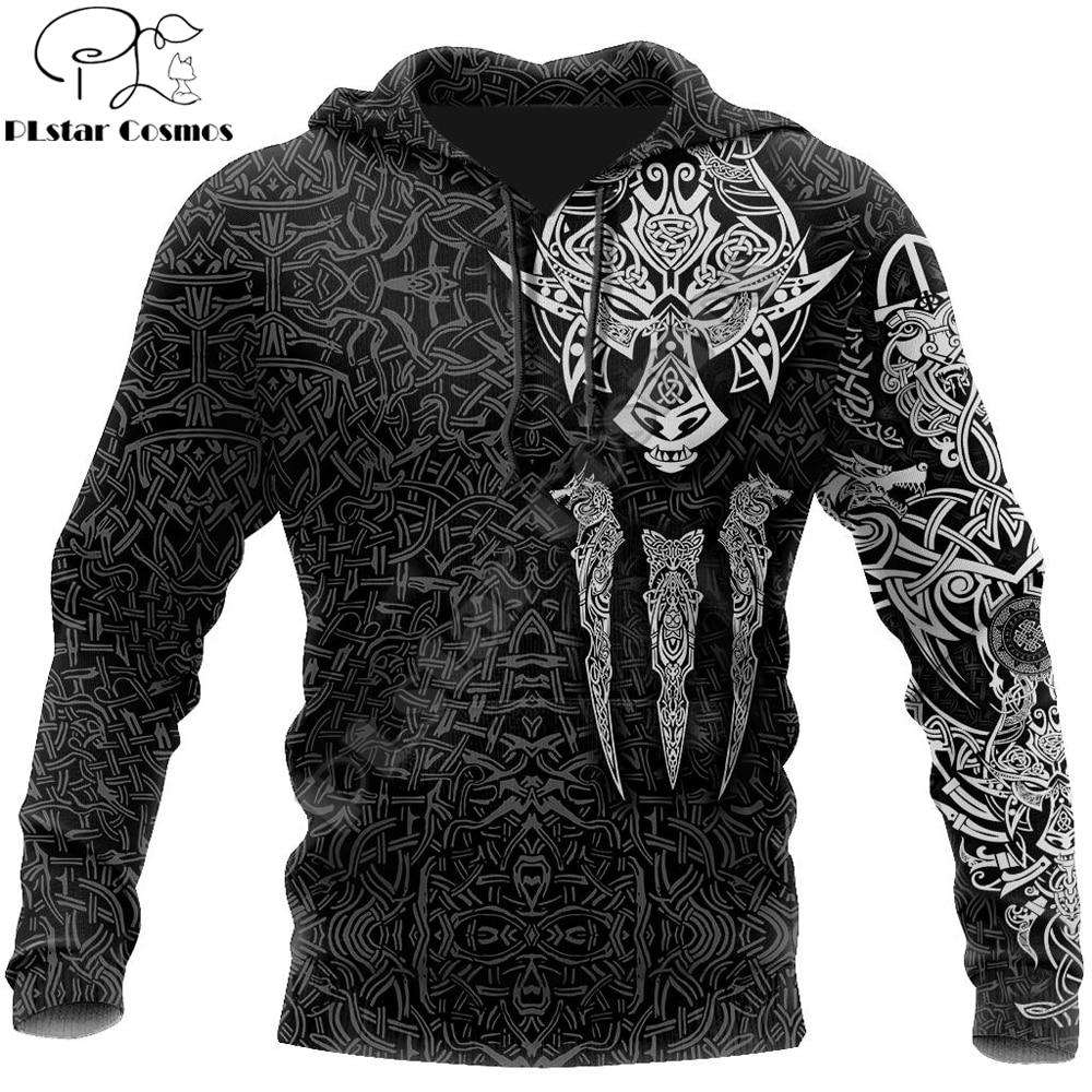 Viking Odin Style tattoo 3D Printed Hoodie and Sweatshirt Harajuku Fashion hoodies Unisex Casual Jacket pullover DW0017