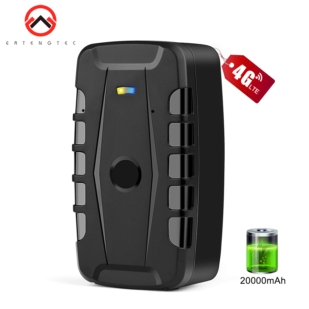 4G LTE Car Tracker GPS 20000mAh 240 Days Standby Magnets Vehicle GPS Tracker Waterproof Realtime GPS Tracking Tracker Drop Alarm image