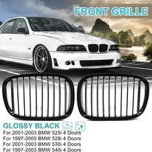 شبكة سباق الكلى الأمامية ، لامعة/غير لامعة ، لسيارات BMW E39 5 Series 525i 528i 530i 540i M5 ، 4 أبواب فقط لـ 1997 2003
