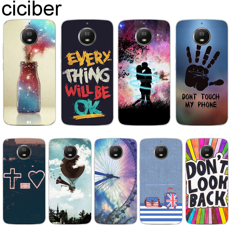 Phone Case For Motorola Moto G7 G6 E6 G5 G5S E5 G4 E4 Z2 Z3 ONE X4 C GO Plus Play Power Soft Silicone Trunk Word Cover