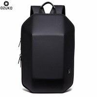 OZUKO Men Backpack Waterproof Laptop Back Pack Three-dimensional Geometric Backpacks Fashion School Bags Male Travel Bag Casual