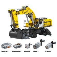 Kazanan 2071 adet 7121 uzaktan kumanda paletli ekskavatör mühendislik modeli montaj yapı blok oyuncaklar çocuklar için doğum günü hediyesi