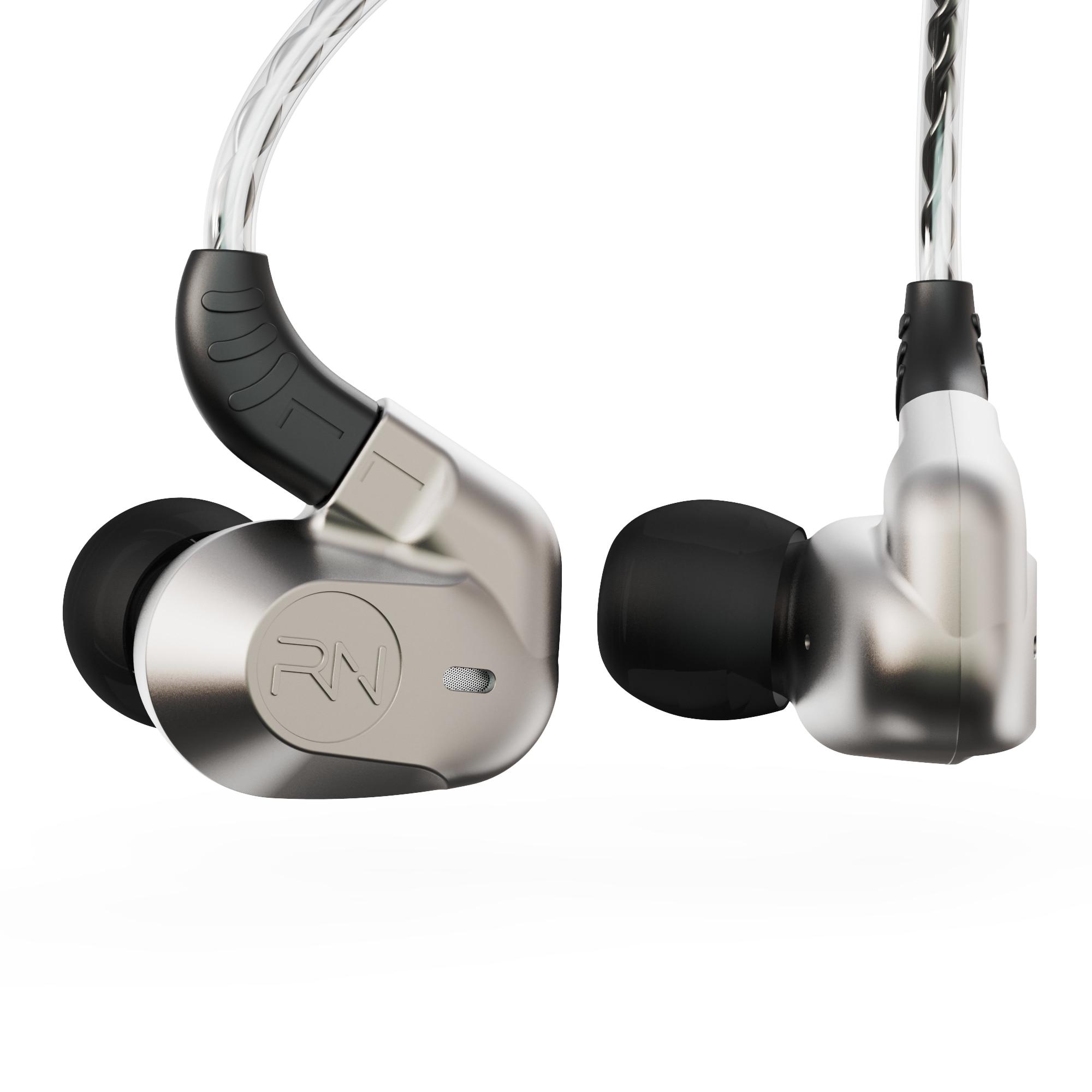 2019 Revonext NEX602 1DD+3BA Hybrid Technology In Ear Earphone HIFI Headset for Running Sport Headplug Earbud For QT2 QT5 NEX202|Phone Earphones & Headphones| |  -