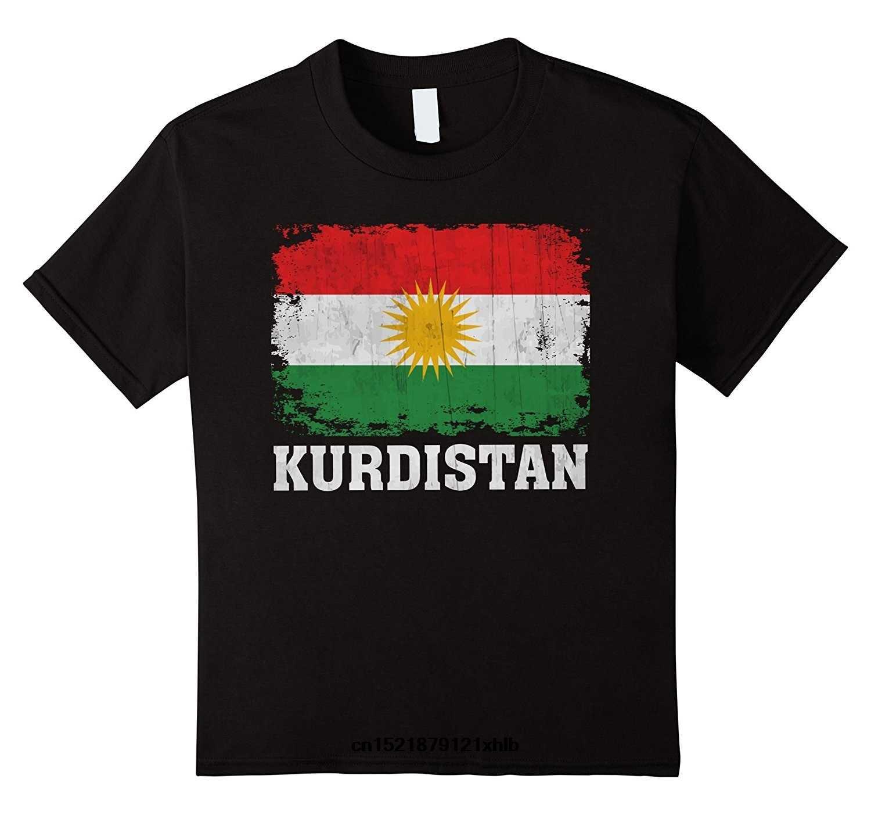 남성 t 셔츠 kurdistan kurdish flag 빈티지 고민 된 고령자 재미 있은 t-셔츠 참신 tshirt 여자