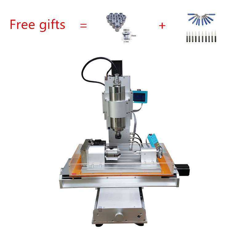 3040 1.5kw 3 axis 4 axis 5axis vertical column type mini cnc router machine with ball Screw metal drilling engraving free cutter