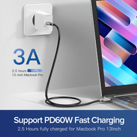 Ugreen PD 60 USB C to USB C 3.1 Cable for Samsung Galaxy S10 S9 3A  1