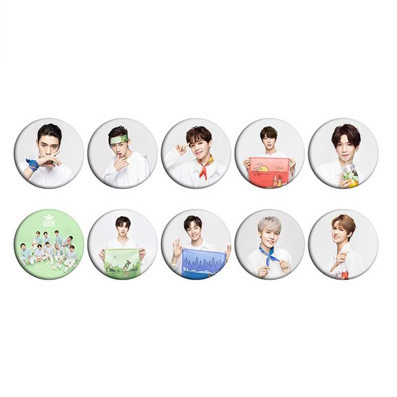 Nine Percent Fashion Cute Chest Pin Brooch Button Round Badge Souvenir Gift Concert Souvenir