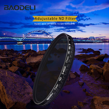 лучшая цена BAODELI Variable Nd Filter Nd2-400 49 52 55 58 62 67 72 77 82 mm For Camera Lens Canon 77d 450d T6 Nikon D3400 Sony Accessories