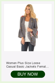 H458457818fc5498394fedf894b938034T Women Plus Size Loose Casual Basic Jackets Female 2018 Autumn Long Flare Sleeve Floral Print Outwear Coat Open Stitch Clothing