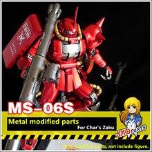 JAOparts Metal modifiye parçaları seti Bandai MG 1/100 MS 06S Chars Zaku II 2.0 Gundam DJ034