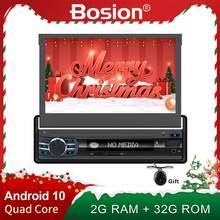 Autoradio stereo con schermo 1 din android 10.0 autoradio 1024*600 HD Flip screen Wifi GPS Navi Camera Map Bluetooth