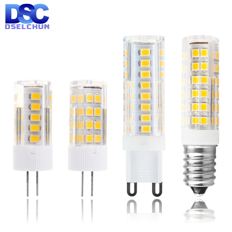 G4 G9 E14 LED Bulb 3W 4W 5W 7W Mini LED Lamp AC 220V-240V LED Corn Bulb SMD2835 360 Beam Angle Replace Halogen Chandelier Lights