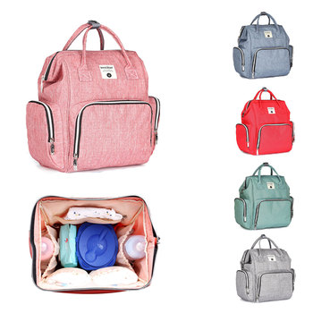 HereNice Mummy Fashion Large Capacity Stroller Bag Mom Nappy Multifunctional Diaper Organizer Bags Maternity Travel Backpack colorland diaper wet bag backpack baby bags mom travel mummy maternity bag organizer fashion printing changing nappy backpacks