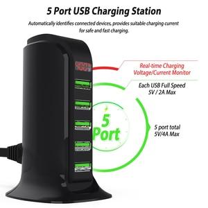 Image 2 - XEDAIN Charger HUB LED Display USB Charging Station Dock Universal Mobile Phone Desktop Wall Home Chargers 5 Port Multi Plates