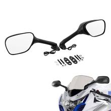 Motorcycle Turn Signal Rear View Mirrors For Suzuki GSXR1000 GSXR 1000 2005-2015 for suzuki gsxr motorcycle rearview side mirrors with turn signal light mirror for suzuki gsr750 tu250x cbr 600rr cbr1000rr