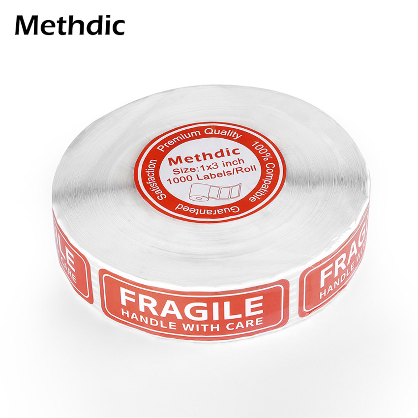 Methdic 1000 Stickers/roll Fragile Stickers Warning Sticker Tags 1