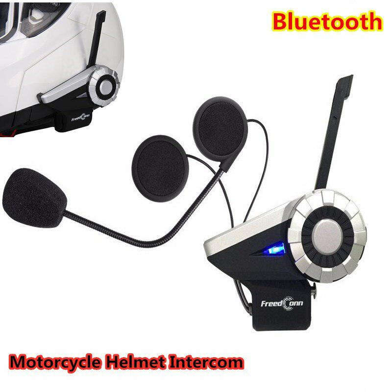 Motorcycle Helmet Intercom 1500M 8-Ways Connection Waterproof Helmet Interphone Wireless Bluetooth Headset FM Radio T-REX