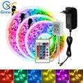 Светодиодные ленты светильник RGB 5050 DC12V Гибкая лампа лента диод 5, 10 м, 15 м, 20 м ФИТА светодиодный светильник полосы + контроллер + адаптер