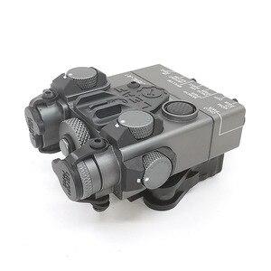 Image 5 - An/PEQ 15A DBAL A2 led 백색 무기 빛 + 원격 스위치를 가진 빨간 레이저 렌즈 전술 사냥 소총 airsoft 건전지 상자