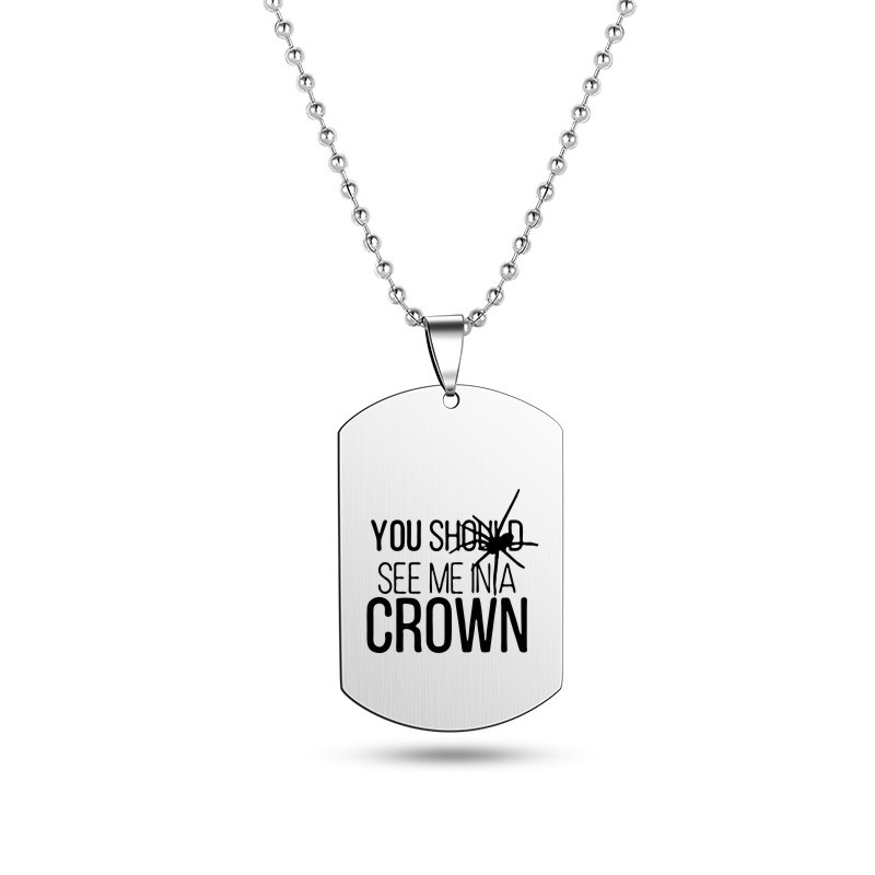 Купить с кэшбэком Billie Eilish Pendant Necklace Strand Chain Fans Gifts Collares Mujer gargantilha Collier femme Stainless Steel necklace