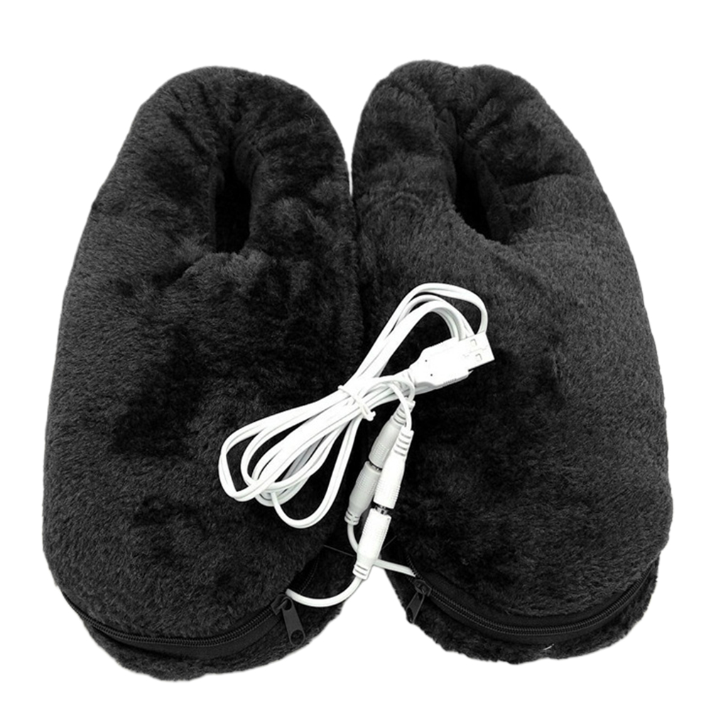 Heating Shoes Portable Home Winter Feet Warmer USB Electric Gift Pad Practical Soft Heated Slipper Cold Relief Reliable
