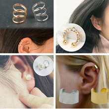 Vintage Punk Hollow U-shaped Ear Clip Earrings Non Pierced Ear Bone Invisible men and women Jewelry Clip de oreja Wholesale 478 women s fashion rhinestone inlaid hollow out u style ear bone clip golden siilver